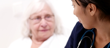 Healthcare Web image of patient and nurse